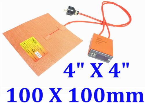 """4"""" X 4"""" 100 X100mm  25W w Digital Control Thermostat Printer Heater Pad Mat"""