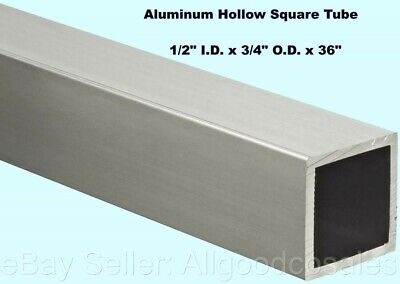 Aluminum Hollow Square Tube 12 I.d. X 34 O.d. X 36 Long 18 Wall