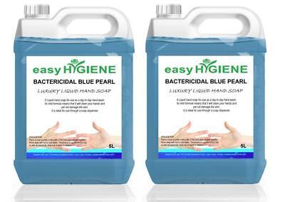 BLUE 10L Antibacterial Bactericidal Liquid Antibac Luxury Pearl Hand Soap 2 x 5