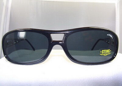 BUY ONE GET ONE FREE STING BOLD BLACK SUNGLASS with DARK GREY LENSES #6066 (Sunglasses Buy One Get One Free)