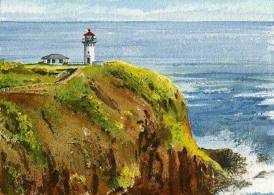- Kilauea Point Lighthouse, Kauai, Hawaii. Gerald Hill Watercolor Art Prints