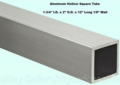 Aluminum Hollow Square Tube 1-34 I.d. X 2 O.d. X 12 Long 18 Wall