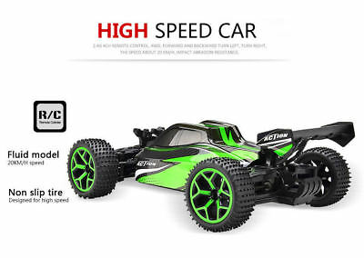 1/18 Rc Car 4wd Off-Road Truck Extreme High Speed Rc Vehicle Buggy Car Green