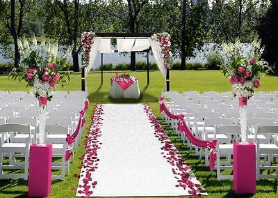 Outdoor Turf Wedding Aisle Runner WHITE