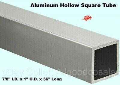 Aluminum Hollow Square Tube 78 I.d. X 1 O.d. X 36 Long 116 Wall