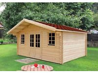 5 x 4 m Log cabin. Free delivery and installation!