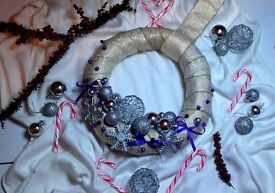 Hand-made Christmas door wreaths.