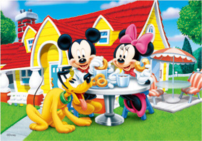 Mickey Mouse, Minnie, and, Goofy enjoy Donuts - 3D Lenticular Poster- 10x14