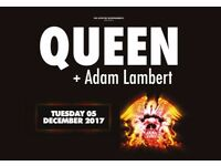 QUEEN + ADAM LAMBERT TICKETS Nottingham Motorpoint Arena 05/12/17