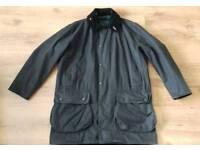 Mens Barbour Border wax jacket size C42 XL