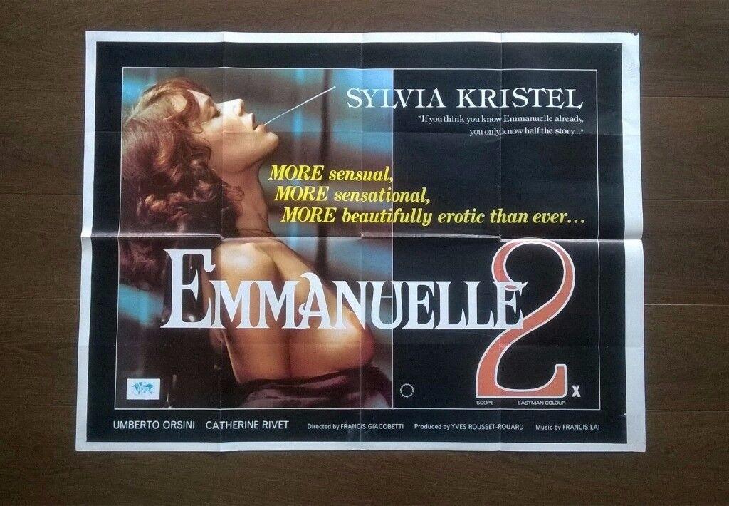 emmanuelle 2 ' plus ' emmanuele 3 ' two original cinemas posters