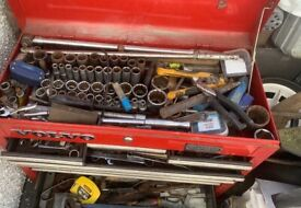 Toolbox and assorted spammers sockets air tools etc