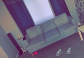 3 seater light grey sofa