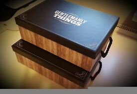 2 x 'Gentlemanly Things' Gift Boxes (ideal for wedding party gifts)