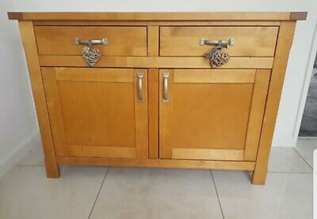 newest f6133 b805f Solid beech wood sideboard used can be painted | in Coventry, West Midlands  | Gumtree