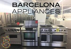 FRIDGE & STOVE WINTER'S END SALE STAINLESS STEE FRENCH DOORS FREE DELIVERY ON ALL APPLIANCES UNTIL SUNDAY APRIL 23