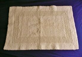"""Cream Soft and Bobbly Patterned Rectangular Thick Reversible Bath Bathroom Mat 30.5"""" X 20.5"""""""