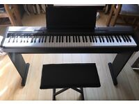Electric piano with stand and seat