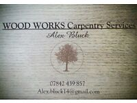 WOOD WORKS Carpentry Services. Qualified carpenter doing home improvements and more.
