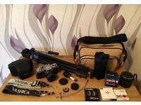Yashica FX2 SLR Camera And Huge Bundle Of Vintage Camera Equipment COLLECT LEEDS