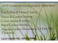For all your gardening and Maintenance needs pease contact Ian