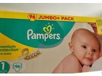 Pamprs size 1 premium 96 pieces