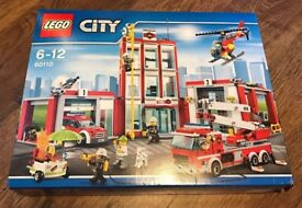Lego City Firestation 60110. Ages 6-12. 909 Pieces. Brand new and unopened
