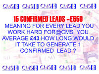 canvassers able to generate 15 leads per week=£650 @CMS