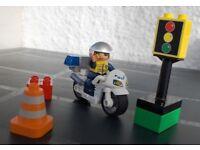 Lego Duplo Traffic Motorcycle Policeman