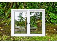 PVC white window, wWidth. 144 X height 120 cms