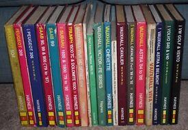 73 x Haynes Workshop Car Manuals Massive Job Lot 73 books 1960s to 2000 hardback books
