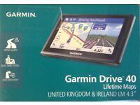 Car Sat Nav Garmin Drive 40LM 4.3 Inch Lifetime Maps UK & ROI