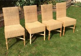 Habitat Indoor Wicker Dining Chairs - Set of 4