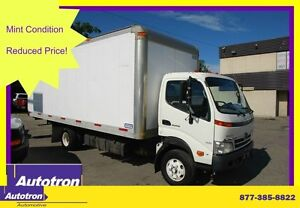 2010 Hino 155 20 ft AL. RAISED BOX  CABOVER
