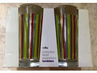 4 Brand New Rainbow Striped Glasses