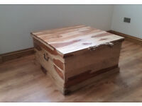 Large Jali solid wood chest - trunk - coffee table - One of kind - Reduced for quick sale
