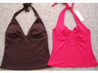 Strappy tops and Suntops, sizes 10 and 12, some NEW. £1 - £3