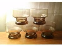 14 piece Luminarc Verrerie d'arques vintage French glassware