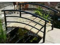 Fish Pond foot bridge, ornamental, outdoor, steel garden bridge, water feature, stream