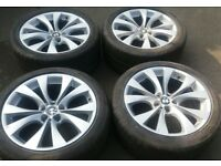 "20"" GENUINE STAGGERED BMW X5 STYLE 227 ALLOY WHEELS NO WELDS 5 X 120 VW T5 T6"
