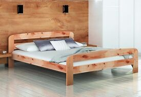 BRAND NEW Super King Size 6ft Natural Pine Solid Wood Bed With Slats Perfect for Students and Couple