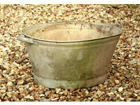 Child's Galvanised Tin Bath Planter