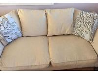DFS 3 seater scatter back sofa
