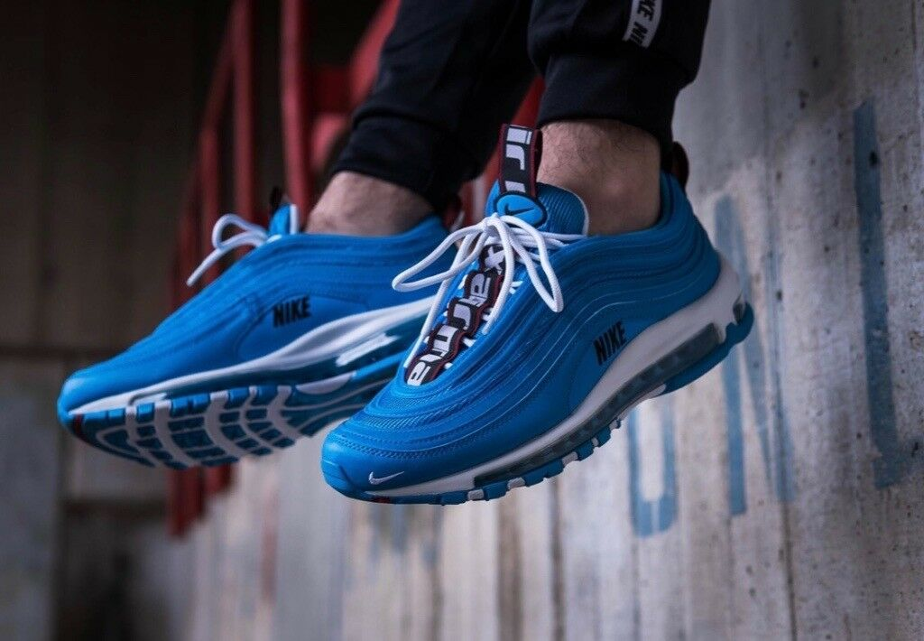 "a81f02eaa36 Nike air max 97 premium ""hero blue"" UK8"