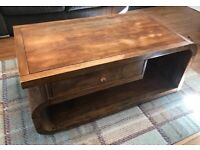 Solid Oak coffee table/TV Unit package deal.