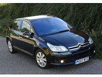 2007 Citroen C4 2.0 HDi 16v Exclusive Diesel Automatic 5 Doors, Black