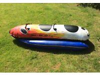 Water ski bob banana boat inflatable for speedboat 2 seater, great fun!