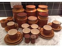 Large Collection of Retro Hornsea Saffron