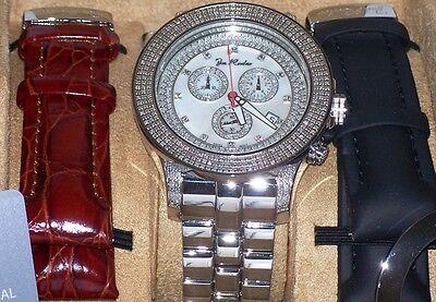 - New Authentic Mens JOJO Joe Rodeo PILOT  3.15 CT.aprx.real diamond watch. JRPL1