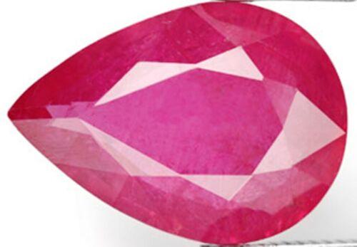 Genuine Ruby 5x3mm Lot of 5 stones 1.4ctw Pear shape